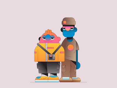 Dude gradient illustrator shop illustration characterdesign character hype fashion clothes