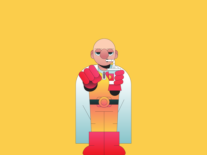 One Punch character design character gradient illustration illustrator manga anime hero one punch man