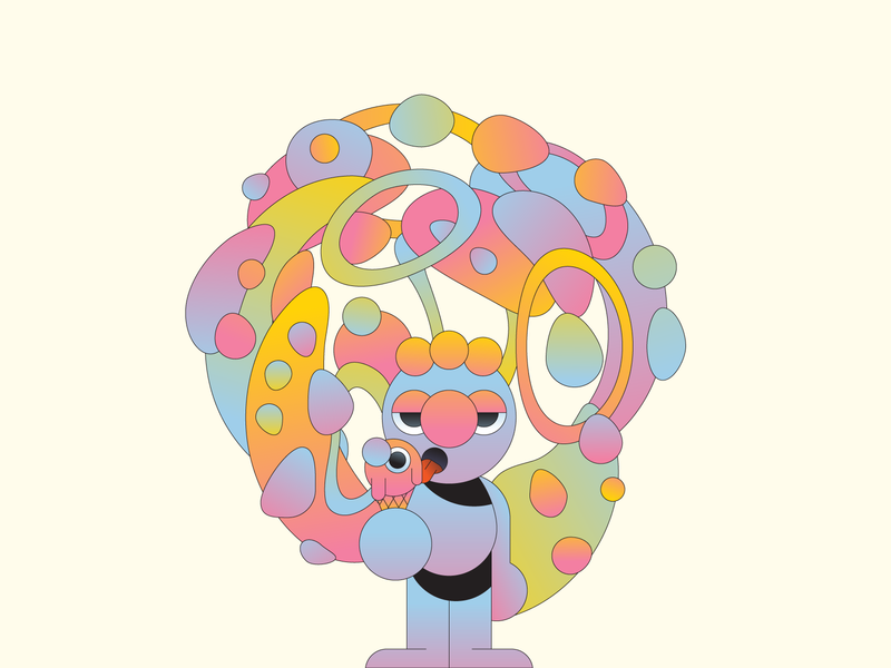 Flavour gradient illustration illustrator character design food icecream character