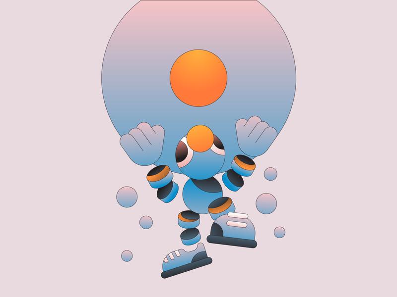 Reach gradient flat illustration illsutrator character