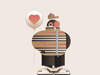Burberry gradient mascot illustration illustrator characterdesign brand character fashion clothing
