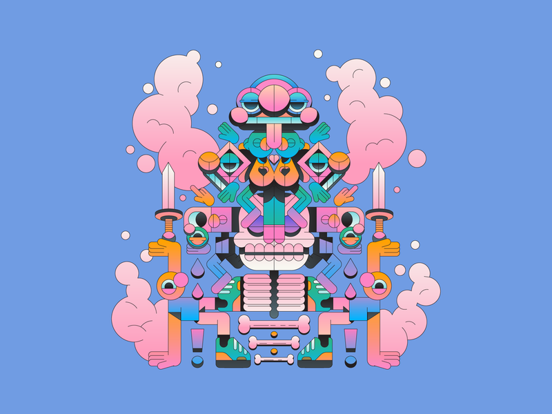 Amalgamation character design character minimal gradient illustration illustrator