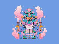 Amalgamation character design character minimal gradient illustration illustrator
