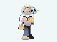 Flower Boy music rap tyler the creator flower gradient illustration illustrator characterdesign character