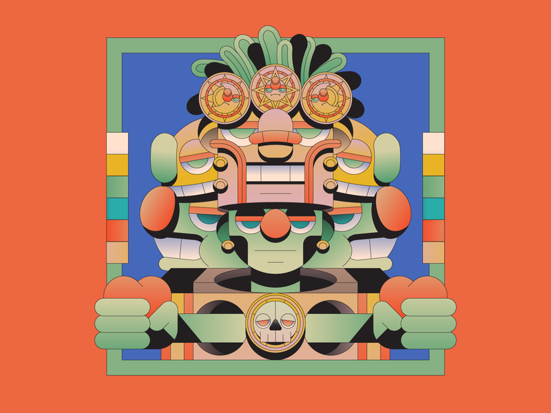 Divine characterdesign character illustration illustrator aztec god myth