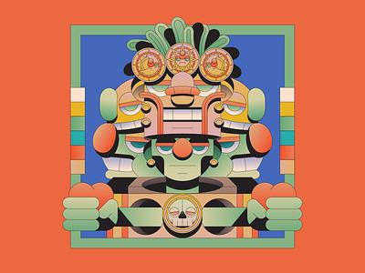Divine characterdesign character illustration illustrator aztec god myth
