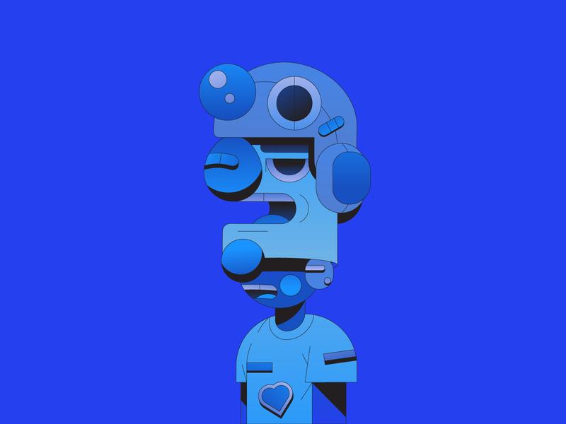 Input mask helmet future flat illustrator illustration gradient character design character