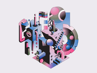 Games vector abstract character simple gradient minimal flat illustrator illustration
