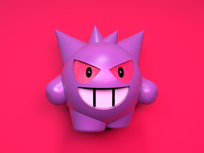 Gengar 3d pokemon