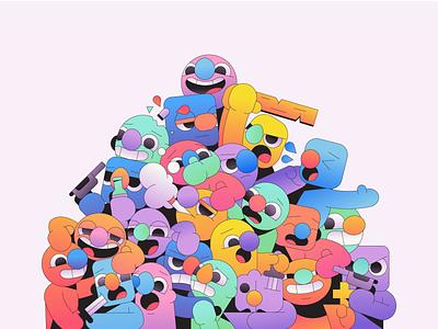 Something Wrong vector mascot abstract character simple gradient minimal flat illustrator illustration