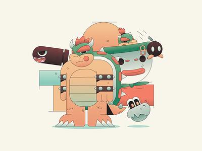 Koopa Troop mascot logo abstract character simple gradient minimal flat illustrator illustration