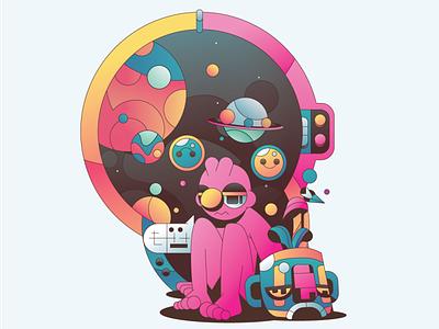 Life Goes On vector abstract character simple flat gradient minimal illustrator illustration
