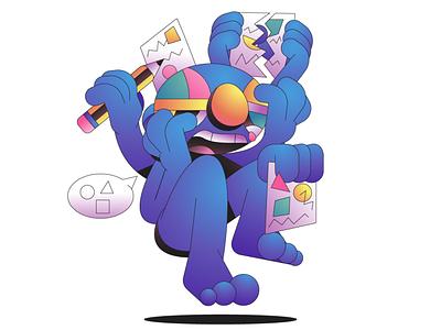 Shape Language character simple gradient minimal flat illustrator illustration