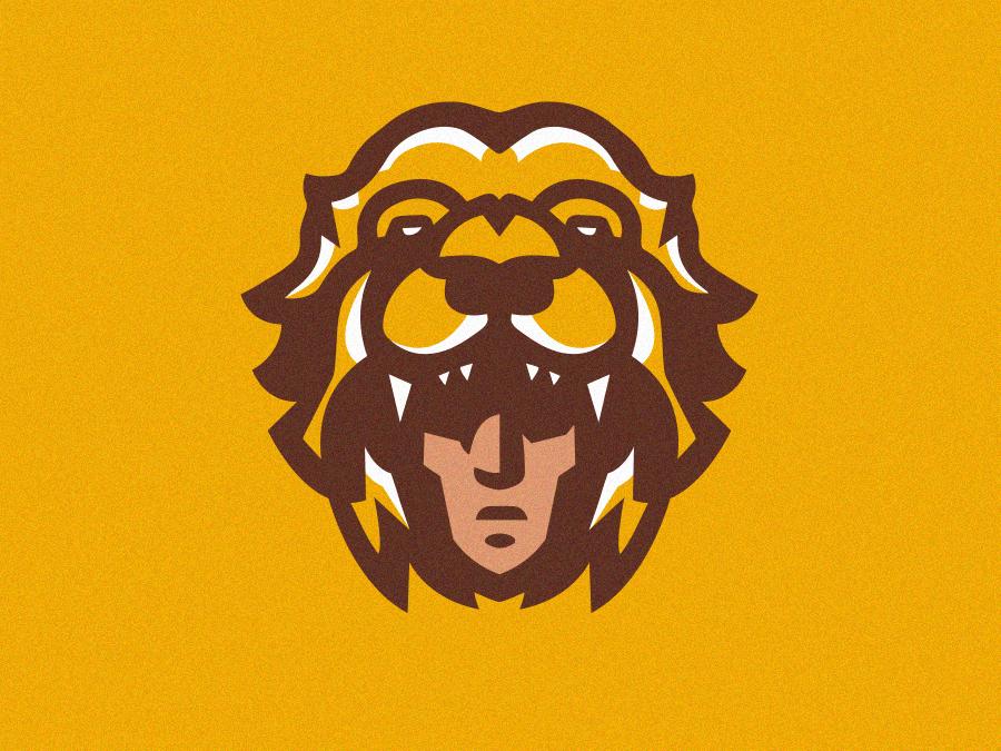 Lion Hunter logo mascot logo mascot illustration gamer esports esportlogo design vector esportslogo esport branding sportslogo animal lion hunter