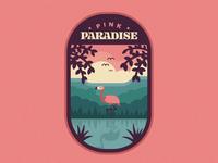 Pink Paradise Badge