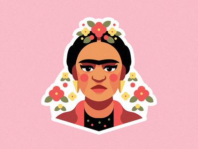 Frida Kahlo Portrait illustrator illustration flowers flower human woman portrait woman women fridakahlo frida