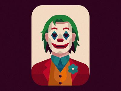The Joker bad guy clown batman v superman character badge logo badge flat illustrator comicbook marvel dc superhero villain baddie illustration batman joker
