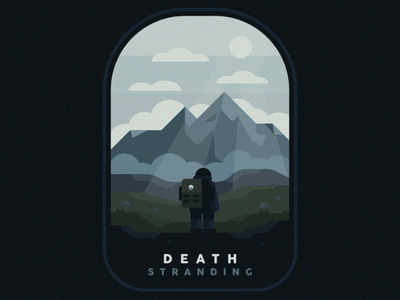 Death Stranding branding illustration illustrator nature illustration outside nature photography badge landscape nature logo mountain man videogame nature japanese kojima death stranding