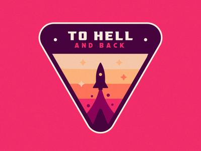 To Hell And Back nasa planet space rocket badge vector mascot logo mascot gamer esports esportlogo esport branding illustration