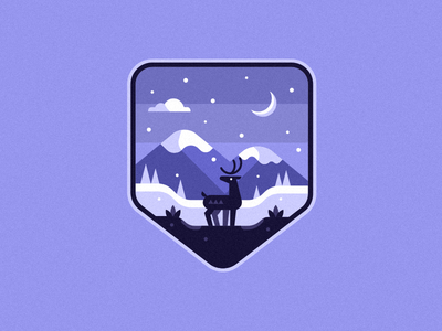 Reindeer Badge