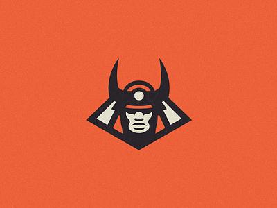 Samurai Logo mascot vintage warrior ninja japan pin badge icon logo samurai