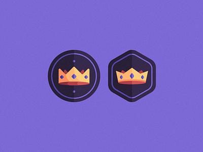 Crowns badge logo logo badges crown logo icon badge prince princess tiara gems gem royal royalty queen king crown
