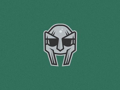 MF Doom stormtrooper illustrator badge mascotlogo mascot spartan helmet mask hiphop music rapper mf doom rap doom