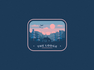 The Lodge blues home house birds trees winter forest woods cabin lodge