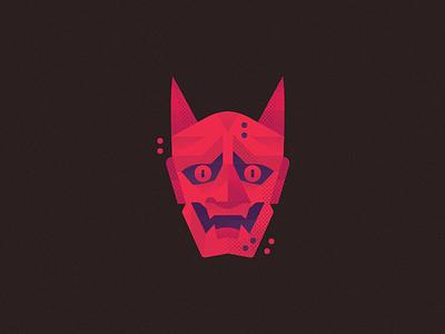 Oni devil demon logo illustration icon pokemon monster japanese japan yokai mask oni