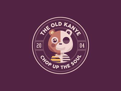 Dropout  Bear illustrator vector illustration music rap hiphop vintage brand badge logo ye animal kanyewest kanye bear dropout bear branding