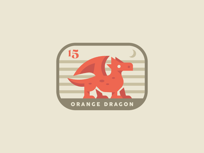 Orange Dragon flat minimal animallogo typography logodesigns logodesign illustration dragon design branding