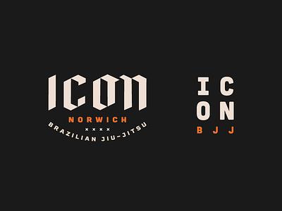 ICON BJJ illustration brand branding design branding boxing martial arts mma brazilian jiu jitsu