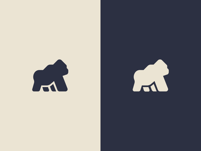 Gorilla brand mma sport sports mark jungle badge icon minimal logo monkey ape gorilla