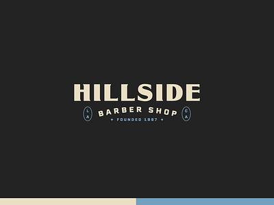 Hillside Barber Shop simple minimalist logo minimalist logo identity tea coffee barbershop barbers minimal branding badge