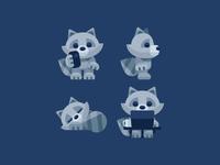 Raccoon Poses