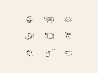 Menu card icons