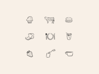 Menu card icons