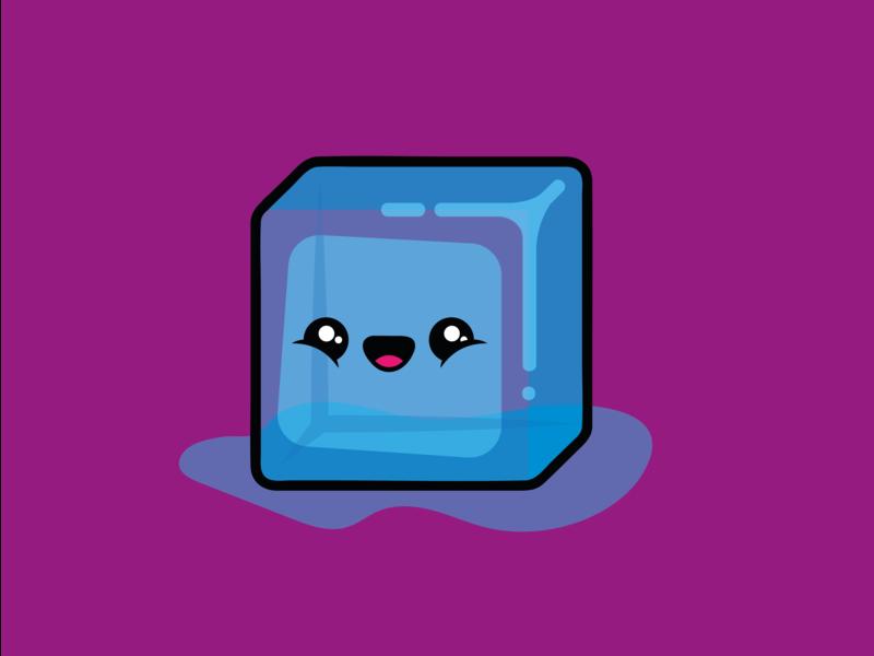 Nice Ice - Brand Idenity logo nice ice character happy app ui ux icon flat 2d branding