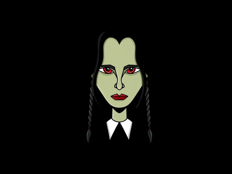 On wednesdays we wear black girl spooky kooky creepy halloween addamsfamily wednesdayaddams wednesday