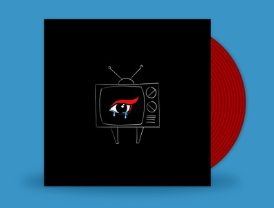 December // Yours Truly - Winter illustration design minimal flat 2d yours truly winter tears retro tv eye naive vinyl cover vinyl art music