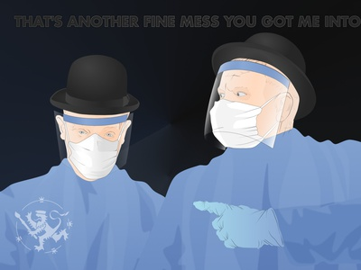 Another Fine Mess mask laurel and hardy affinitydesigner callmefafa illustration covid-19