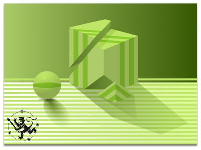 Basic Forms No 1 in Green kolmio asetelma vihreä stripes raidat neliö pallo basic forms green madeinaffinity affinitydesigner callmefafa illustration still-life sguare pyramid ball