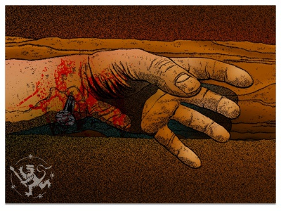 Passover blood affinity photo handdrawn callmefafa gouache illustration