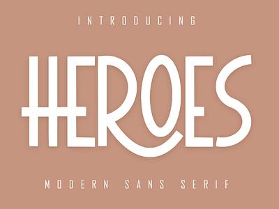 HEROES Sans Serif fonts font calligraphy lettering playfull best seller natural handwritten script corporate