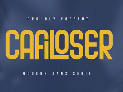 Cafiloser - Modern Sans Serif natural corporate playfull clothing branding kids elegant business retro brush bold free modern vintage script fonts logo font