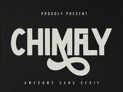 Chimfly - Awesome Sans Serif natural corporate playfull clothing branding kids elegant business retro brush bold free modern vintage script fonts logo font