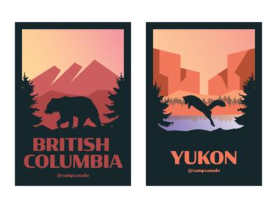 British Columbia and Yukon Province Illustration