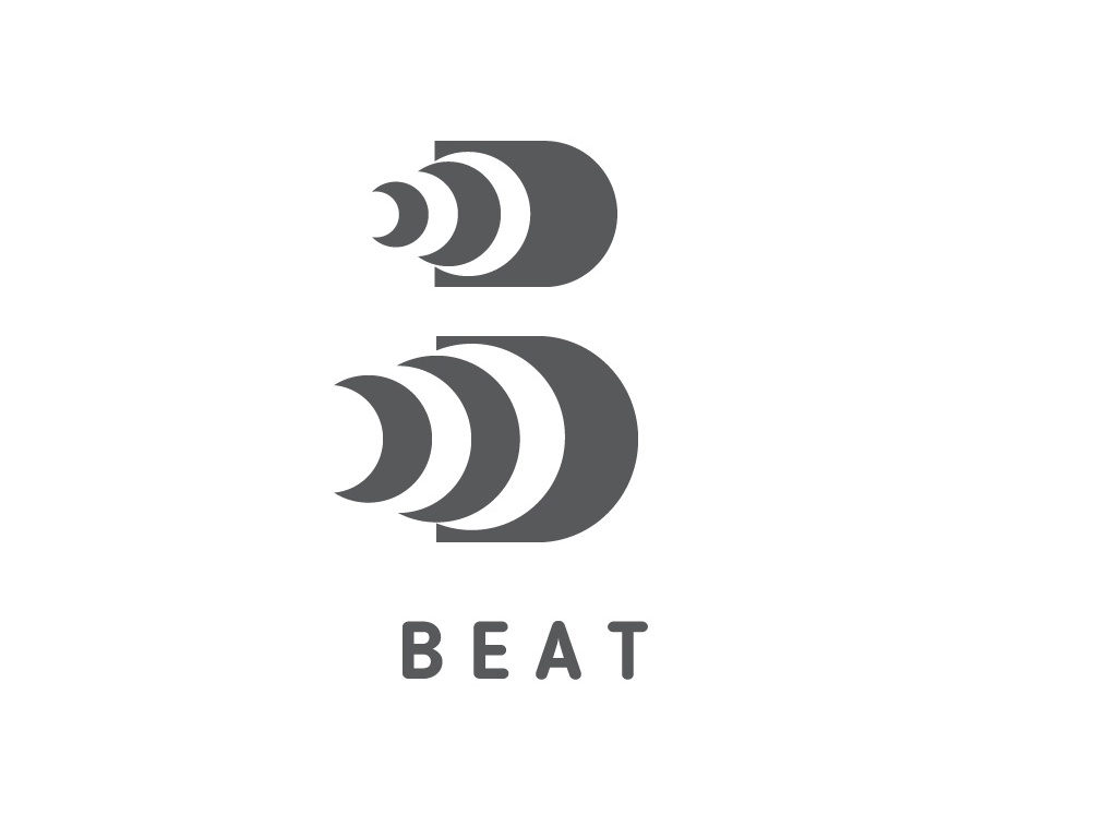 Day 9 : Streaming Music Startup - Beat drum drums pitch bass music waves monogram b monogram letter b letter logo beat music logochallenge dailylogochallenge