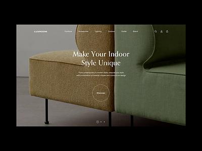 Luxroom | Animation interface video shop design motion website architecture georgia ui photo landing landing page web design animation store decoration interior furniture