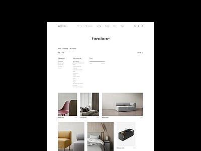 Luxroom   E-Commerce Website georgia website photo ui store ecommerce shop product shopping cart contact interface design landing page web design decoration architecture interior furniture